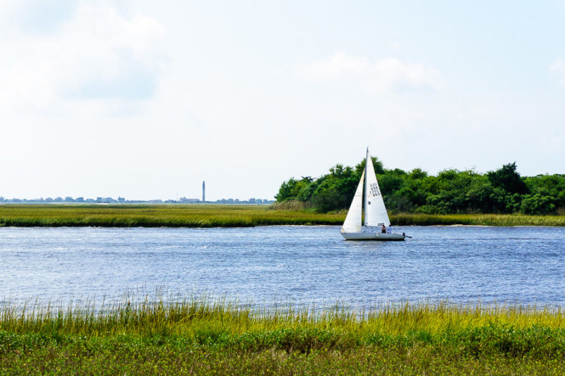 sailboat in the waterway