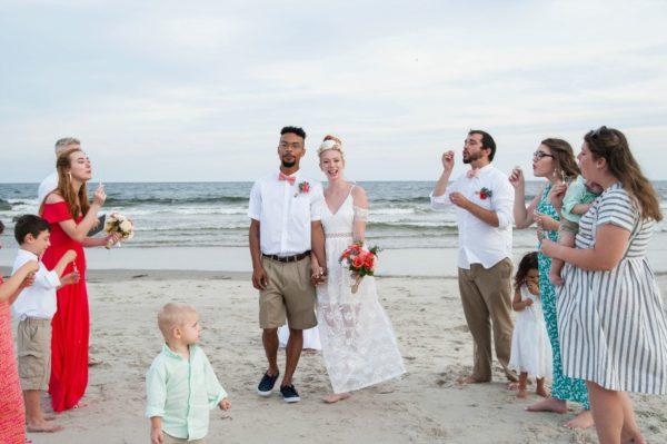 Lindsey's sweet & simple beach wedding