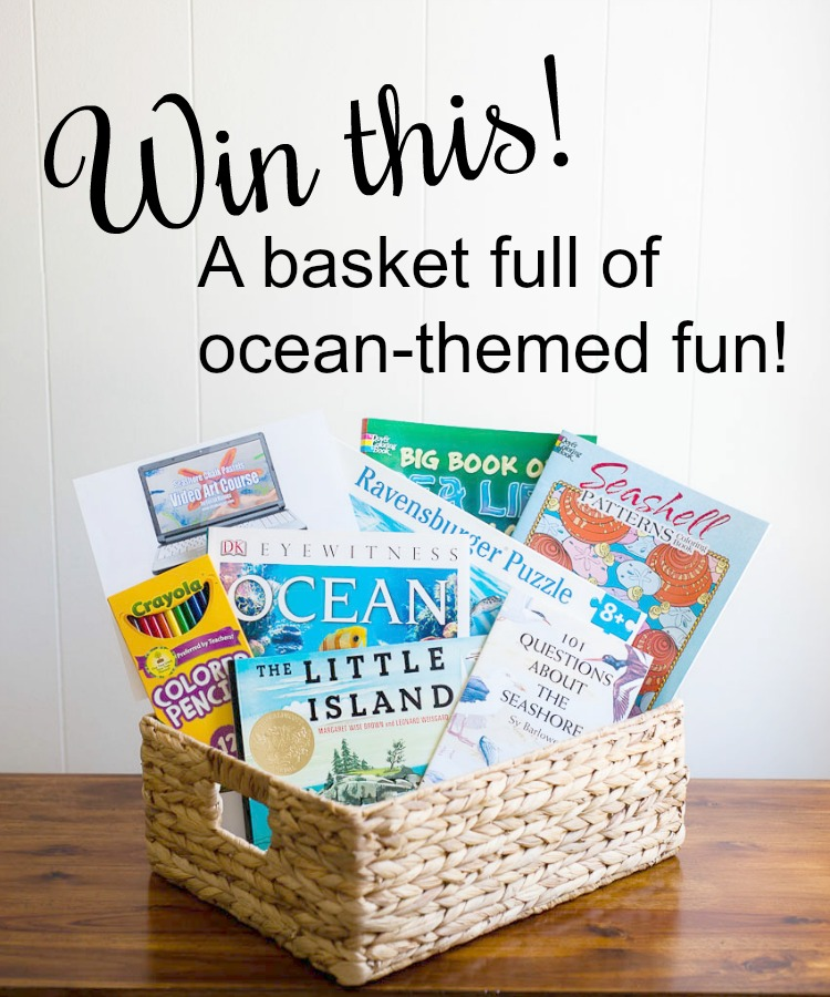 Win this ocean learning gift basket at seejamieblog.com