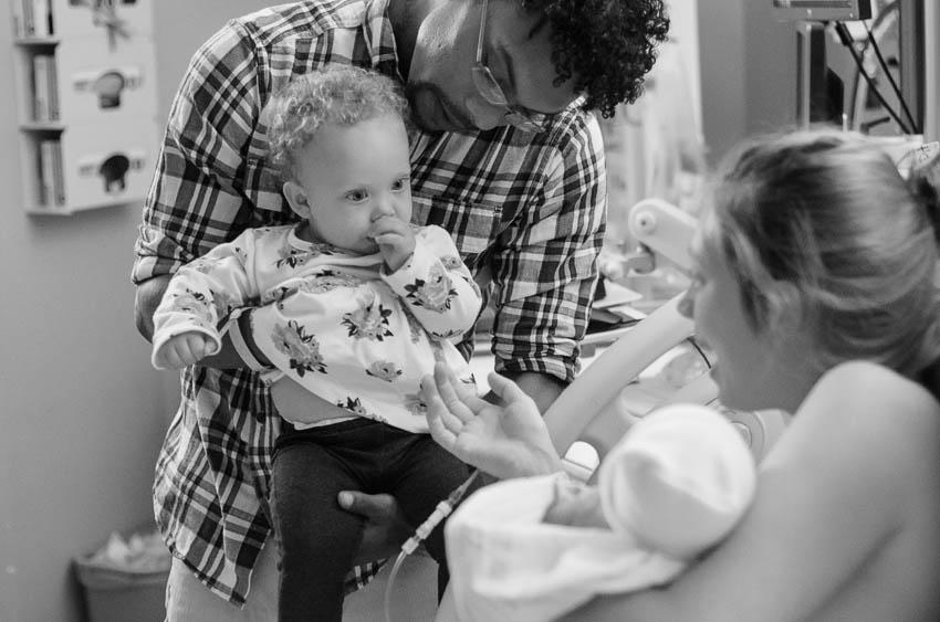 meeting newborn baby brother