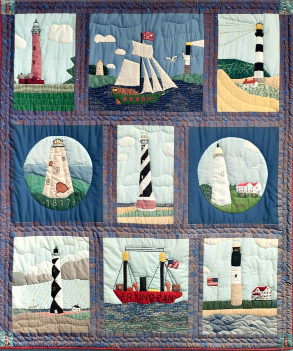 maritime museum lighthouse quilt