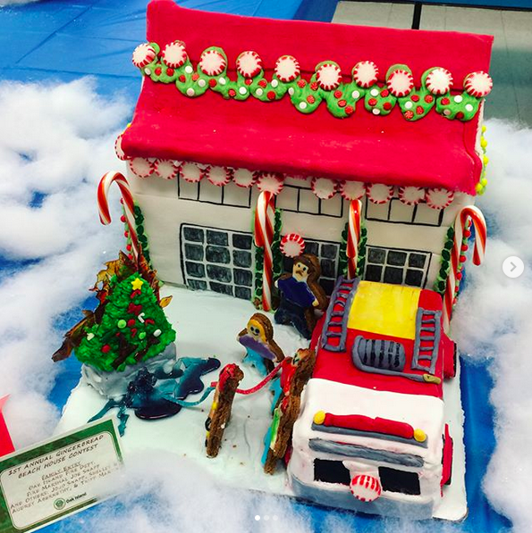 gingerbread house fire station