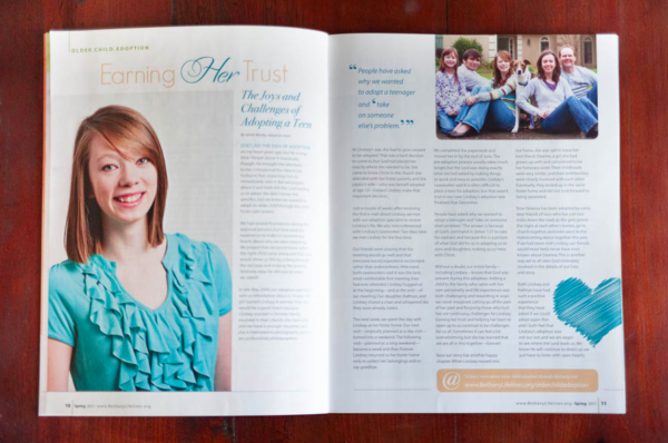 our article in Lifelines Adoption Magazine