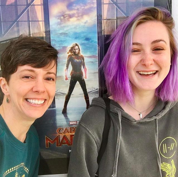 Captain Marvel movie with Kathryn