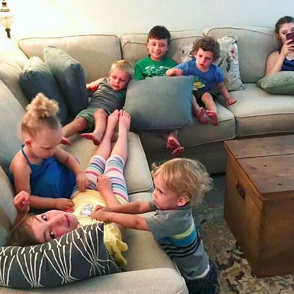 couch full of kids