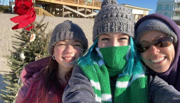 My girls and I went for a very cold Christmas day walk.